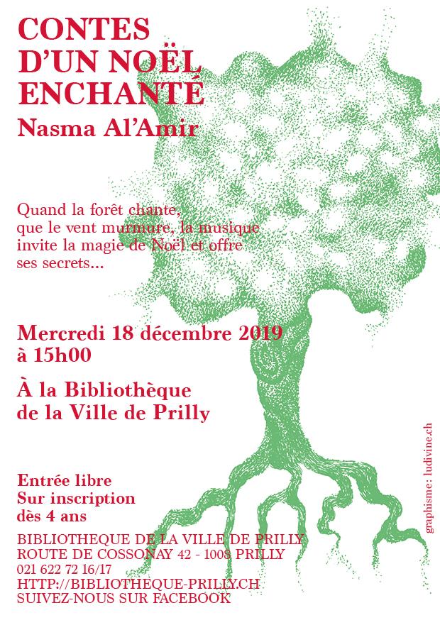 Contes de Noël par Nasma Al'Amir à la Bibliothèque de Prilly