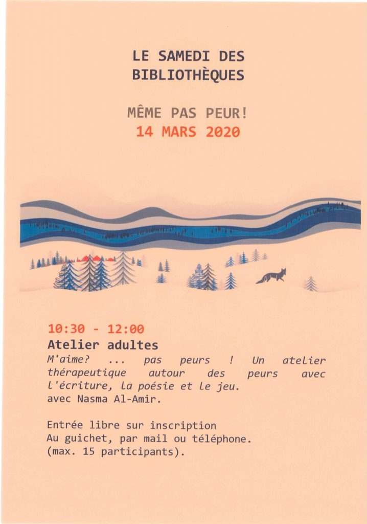 Samedi des Bibliothèques à Prilly, atelier avec Nasma Al Amir